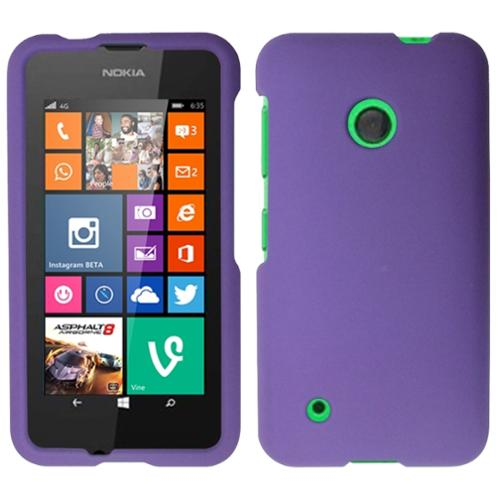 Insten Hard Rubber Coated Cover Case For Nokia Lumia 530 - Purple