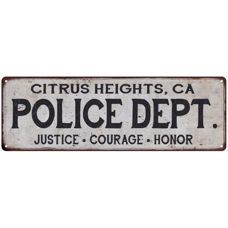 CITRUS HEIGHTS, CA POLICE DEPT. Home Decor Metal Sign Gift 8x24