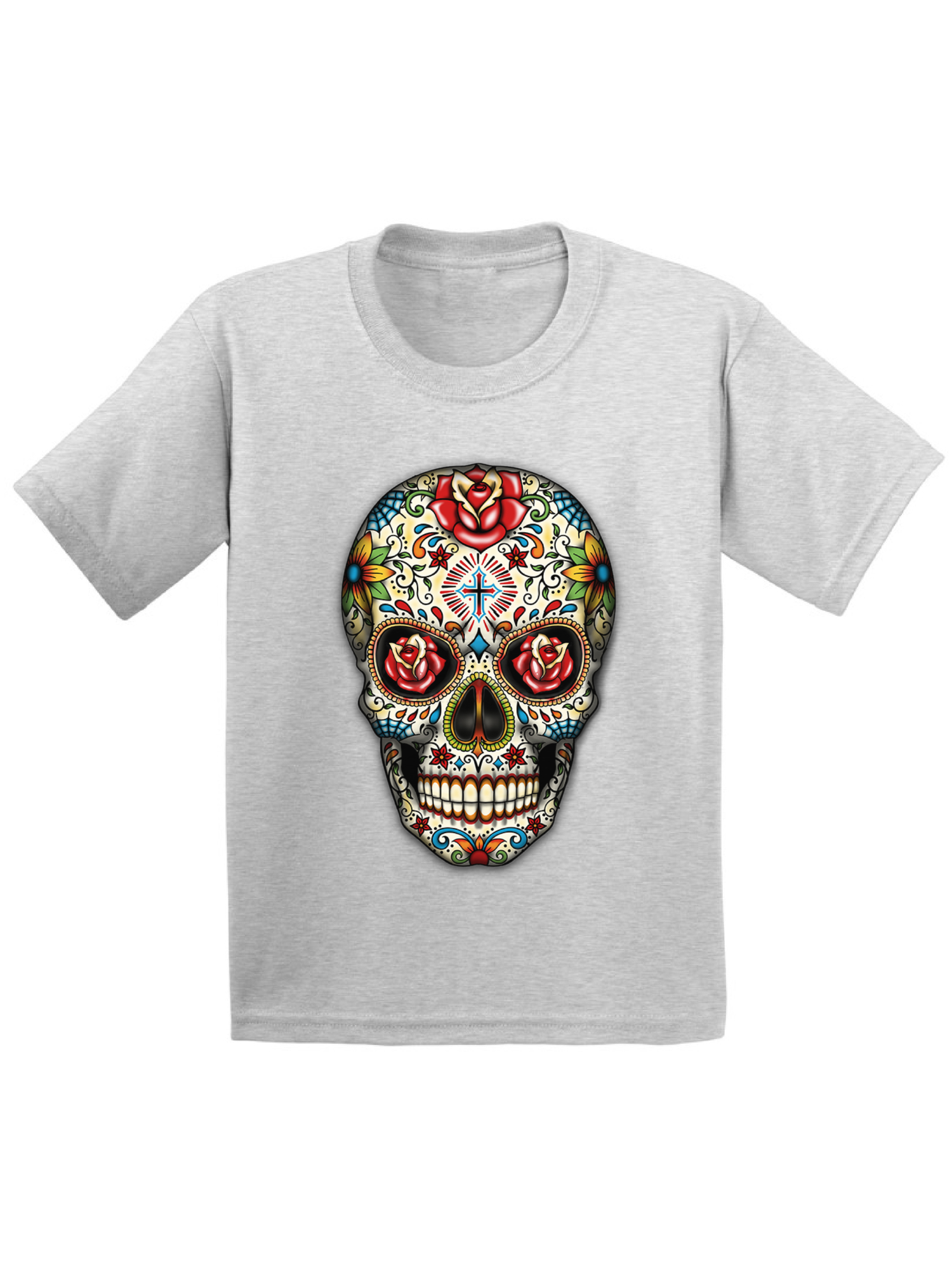 9f2422ef Awkward Styles Rose Eyes Skull Tshirt for Kids Sugar Skull Roses Shirt  Sugar Skull T Shirt Dia de los Muertos Outfit Day of the Dead Gifts  Halloween Shirts ...