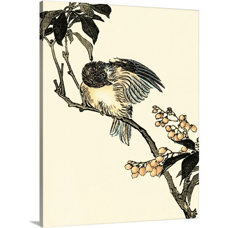 Great BIG Canvas | Vision Studio Premium Thick-Wrap Canvas entitled Oriental Bird on Branch V