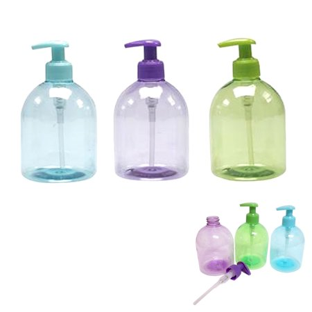 3Pc Plastic Bottle Dispenser Liquid Soap Pump Lotion Refillable Empty Cream 17oz