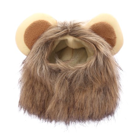 Cute and Fun Pet Costume Wig Caps for Cat Puppy Dog Emulation Lion Hair Mane Ears Head Hats Party Cosplay Festival Fancy Dress Up