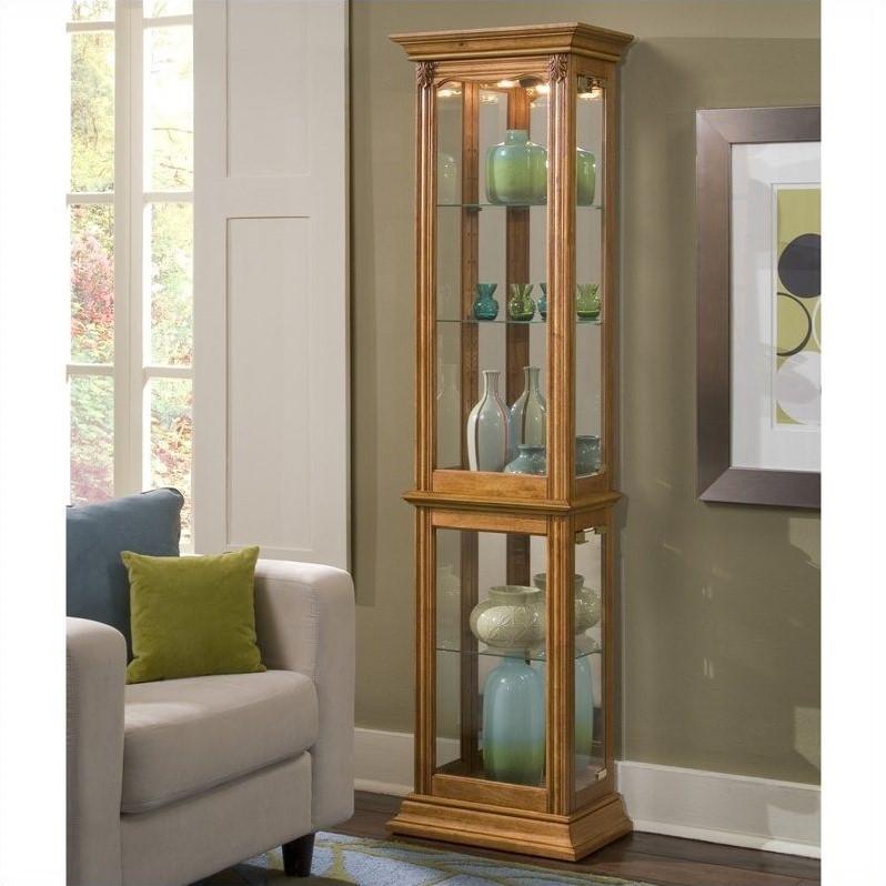 Pulaski Furniture Store: Pulaski Curios Display Cabinet In Estate Oak