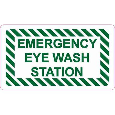 Emergency Eye Wash Wall Mount (3.5 x 2 Emergency Eye Wash Station Magnet Business Door Wall Sign Vinyl Magnetic )