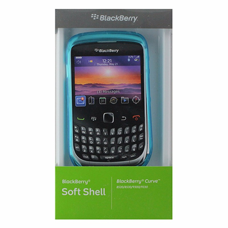 BlackBerry Soft Shell Gel Case for BlackBerry Curve 8520 / 9330 - Blue