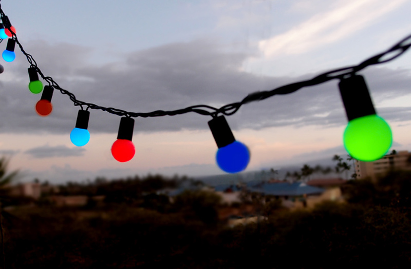 Outdoor Multi Color Rgb Led Globe Ball