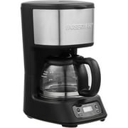 FARBERWARE 5-Cup Programmable Coffee Maker, Black & Stainless
