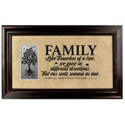The James Lawrence Company 'Family' Framed Textual Art