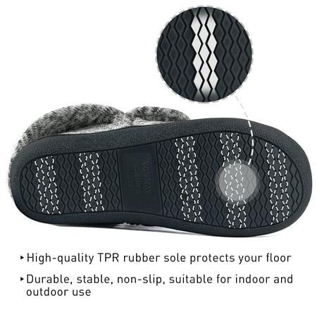 VONMAY Women's Fuzzy Slippers Boots Memory Foam Booties House Shoes Indoor Outdoor