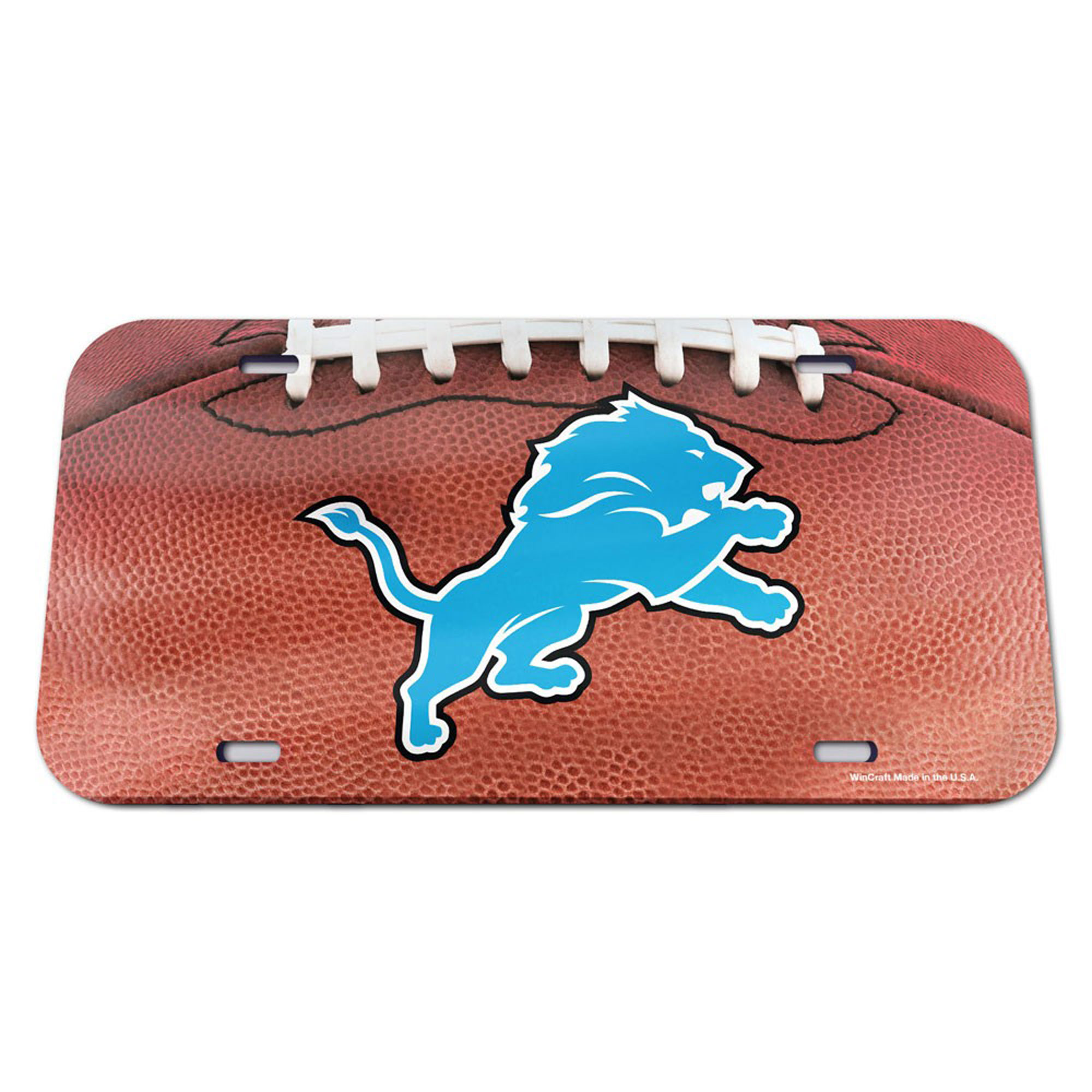Detroit Lions WinCraft Football Crystal Mirror License Plate - No Size