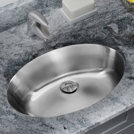 Ipt Sink Company Stainless Steel Drop Lavatory Oval Undermount