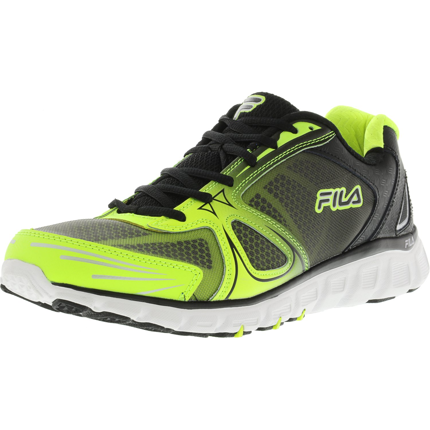 Fila Men's Memory Solidarity Safety Yellow   Black White Ankle-High Running Shoe 11.5M by Fila