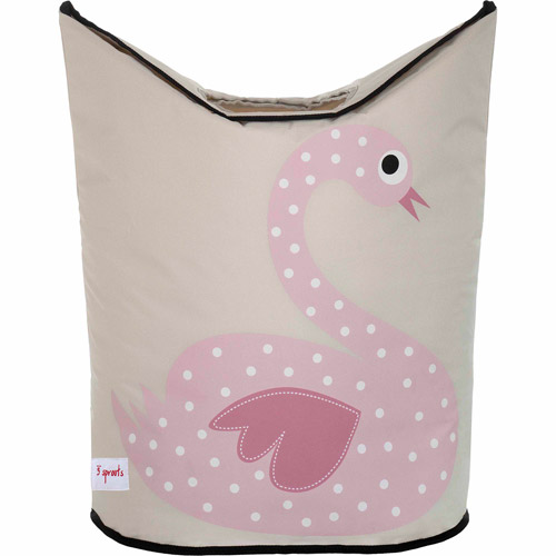 3 Sprouts Laundry Hamper, Swan by 3 Sprouts