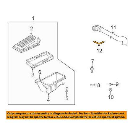 Jeep CHRYSLER OEM 97-04 Wrangler 4.0L Air Cleaner Intake-Vent Tube Hose 53030615 - Jeep Wrangler Brake Hose