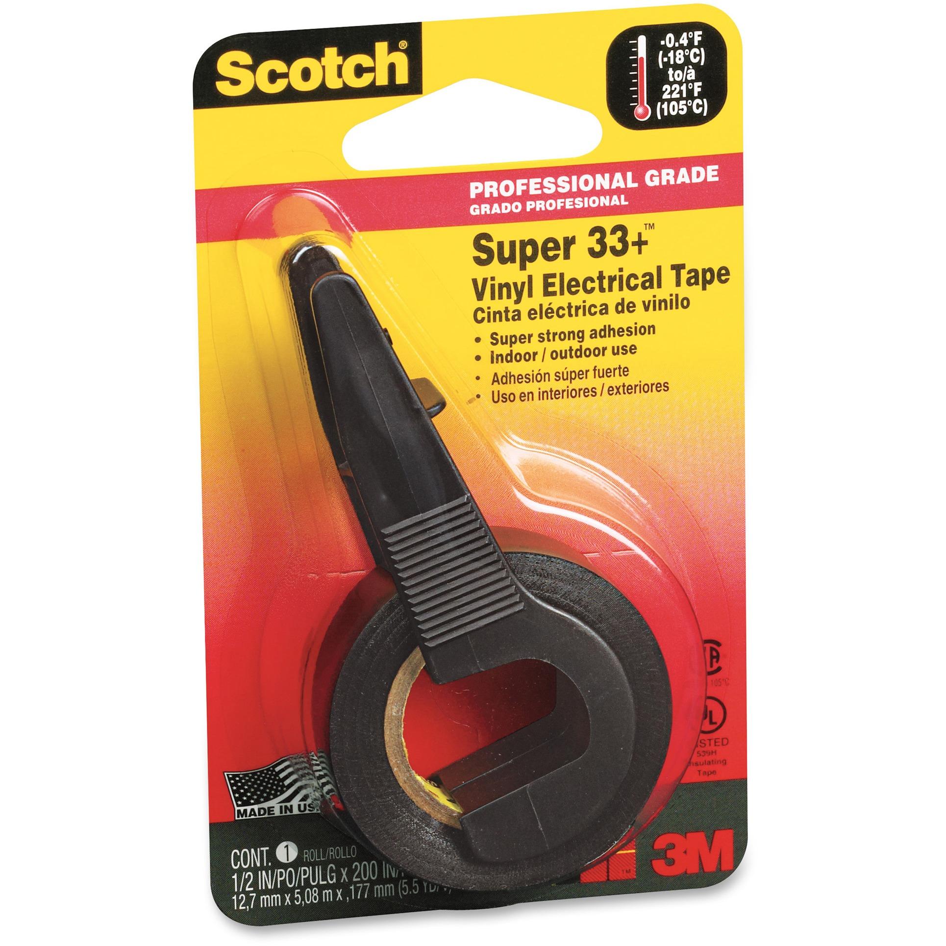 Scotch, MMM194, Electrical Tape, 1 Roll, Black