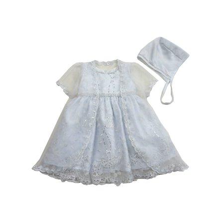 Toddler Cap And Gown (Baby Girls White Stylish Bridal Satin Jacket Hat Christening)