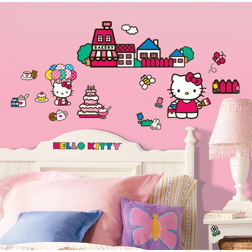 Room Mates 32 Piece World of Hello Kitty Wall Decal Set