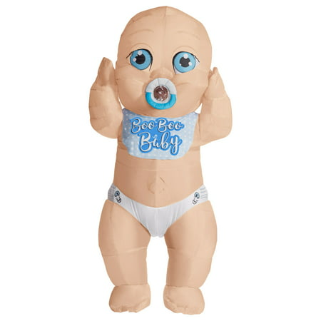 Adult Momma's Boy Inflatable Baby - Adult Grover Costume