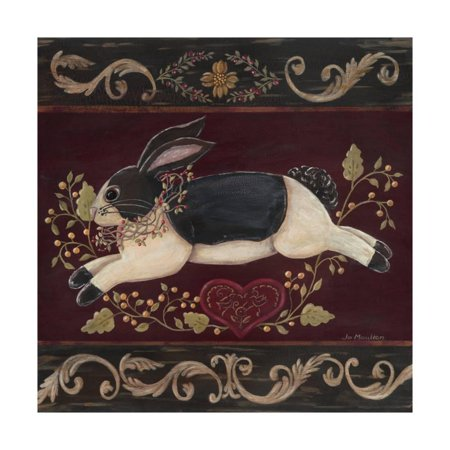Folk Bunny II Print Wall Art By Jo - Folk Bunny