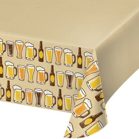 Cheers and Beers Plastic Table Cover (Beer Covers)