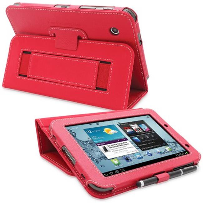 Snugg B00CM6SOJE Galaxy Tab 2 7. 0 Case Cover and Flip Stand, Red Leather