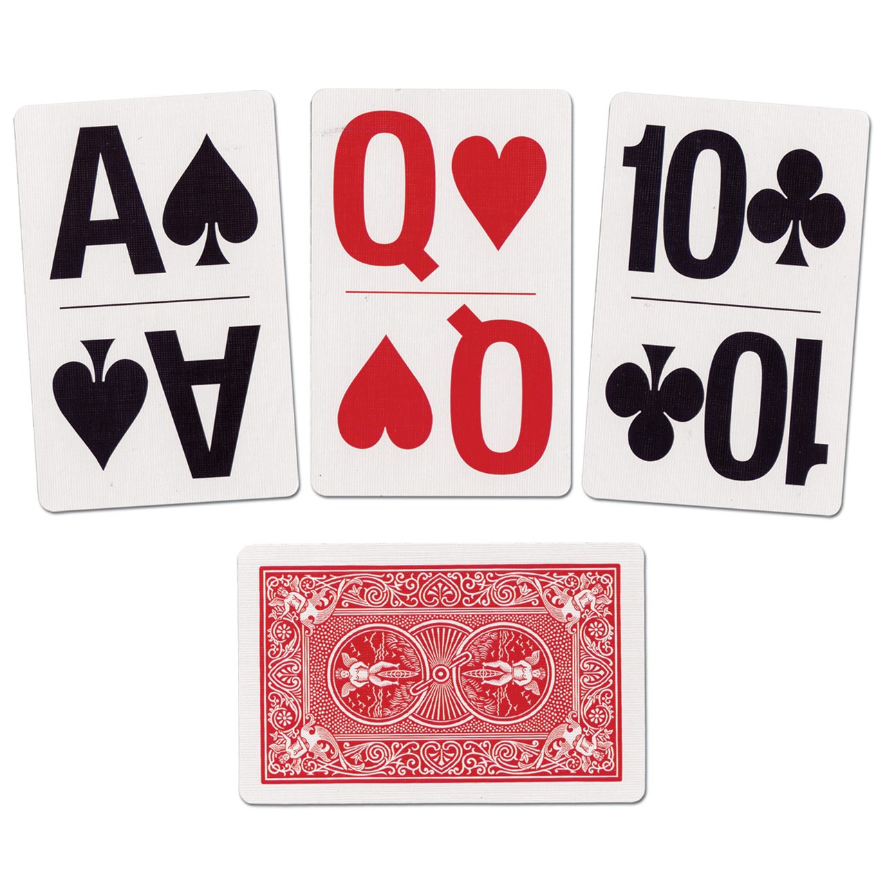 Large Print Bridge Size Playing Cards - Walmart.com