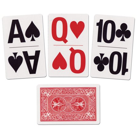 Large Print Bridge Size Playing Cards (Extra Large Playing Cards)