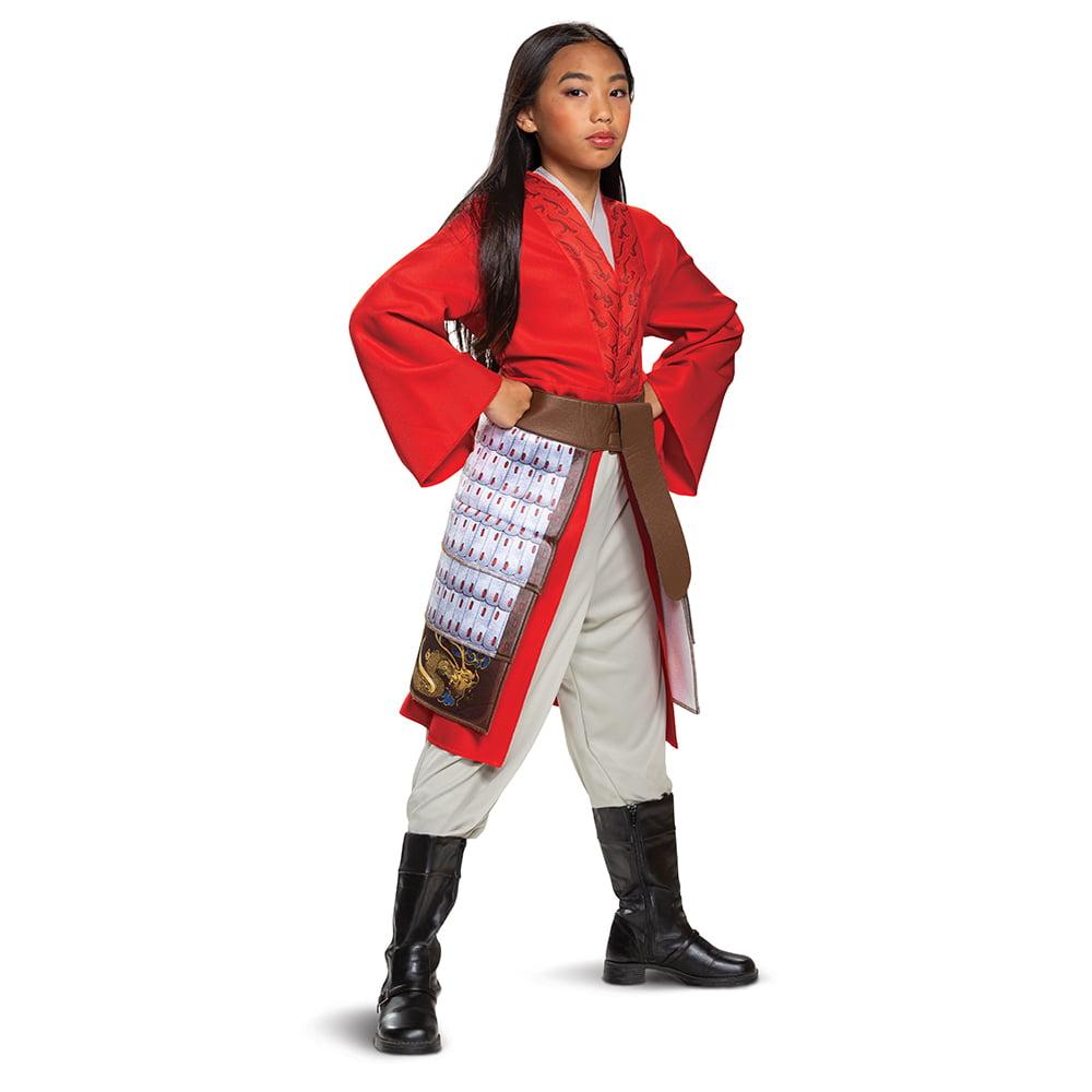 Disguise Disney Mulan Live Action Girls Deluxe Red Mulan Hero Dress Halloween Costume Walmart Com Walmart Com