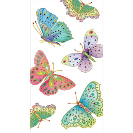 Jeweled Ivory Guest Book (Caspari - Disposable Folded Bathroom Hand Towel, Jeweled Butterflies Paper Guest Towels, Ivory, Pack of 15 Guest Towel )