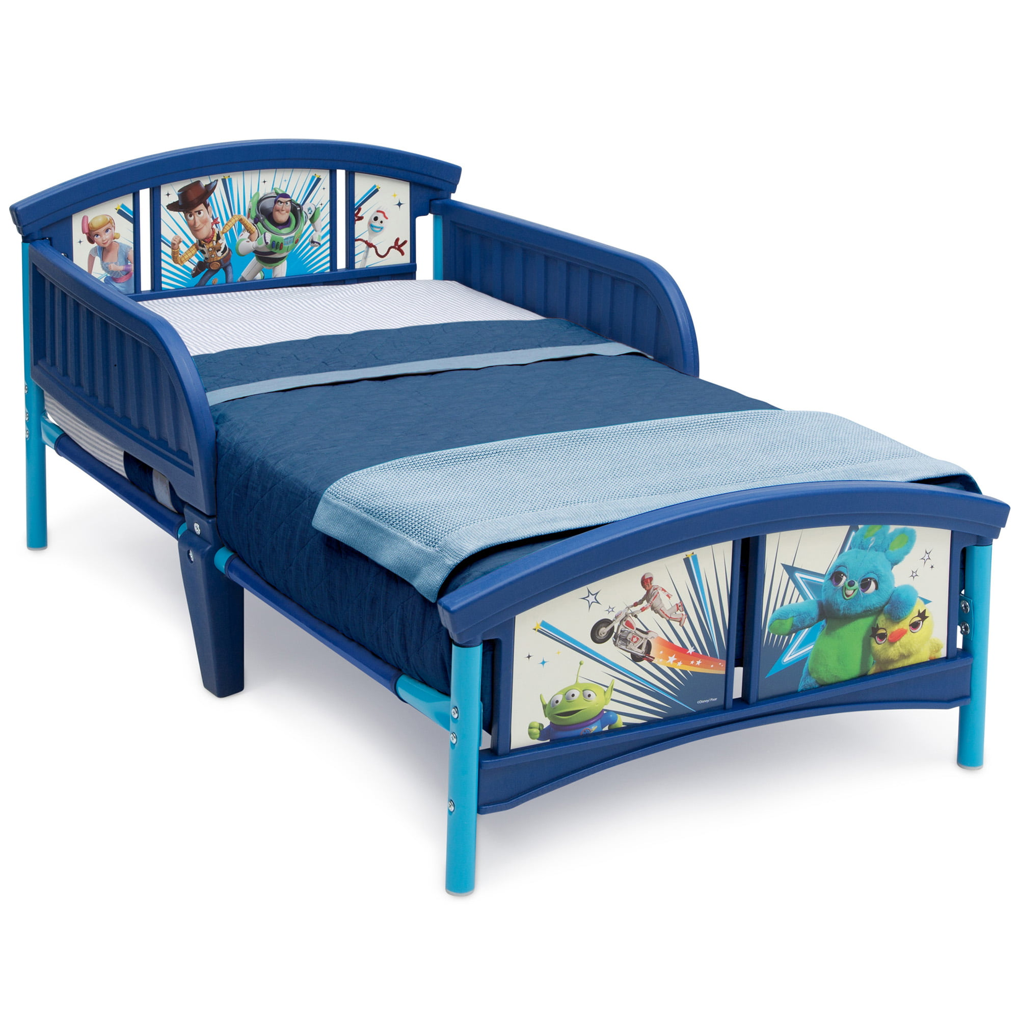 DC Super Friends Free Fast Delivery New Delta Children Plastic Toddler Bed