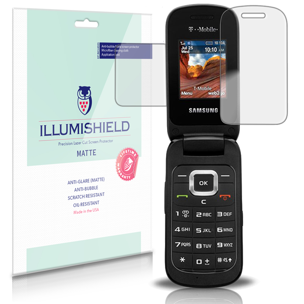 iLLumiShield Matte Screen Protector 3x for Samsung Denim / SGH-T159 Flip Phone