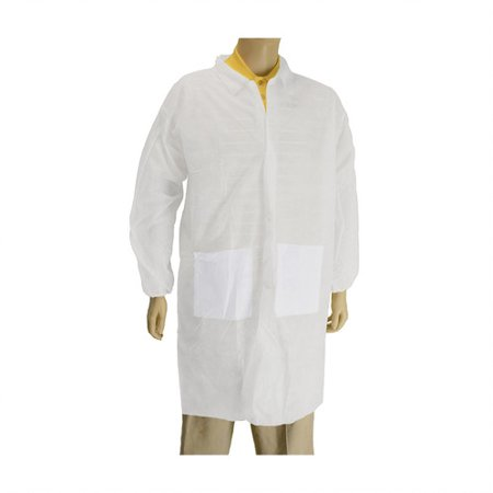 Static Lab Coats Sms Material (Sms Lab Coat ( With 2 Pockets ) Lot of 1 Pack(s) of 1)