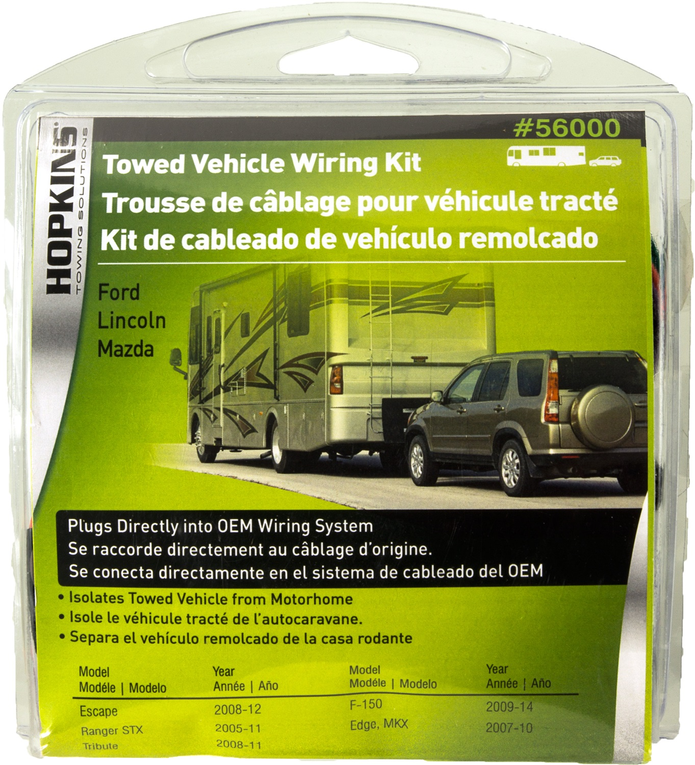 Hopkins Towing Solution 56000 Plug In Simpler Vehicle To Trailer 2007 Mercury Mountaineer Wiring Harness