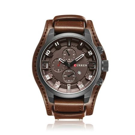 CURREN Relógio militar de homem de quartzo modelo 8225