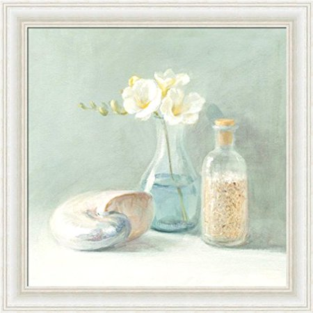 FRAMED Freesia Spa by Danhui Nai 10x10 Art Print Poster Shell Coastal FlowersMADE IN THE USA