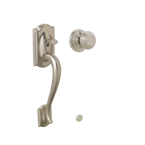 Camelot Handleset Less Deadbolt W Georgian Interior Knob