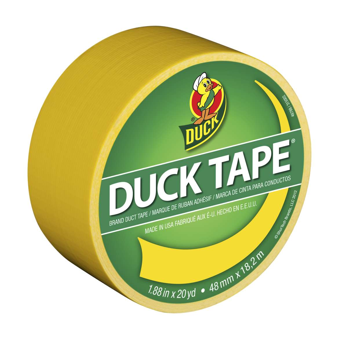 Color Duck Tape Brand Duct Tape - Yellow, 1.88 in. x 20 yd