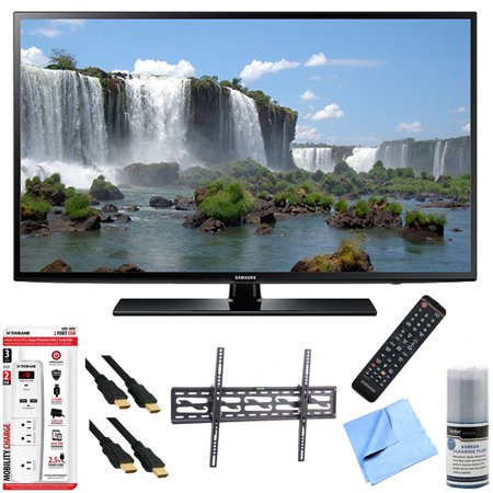 Samsung UN60J6200 – 60-Inch Full HD 1080p 120hz Smart LED HDTV Tilt Mount/Hook-Up Bundle includes UN60J6200 60-Inch 120hz Full HD 1080p Smart TV, Flat & Tilt Wall Mount Kit, 6 Outlet/2 USB Wall Tap