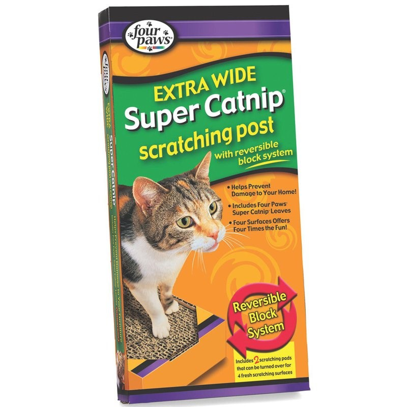 Four Paws Super Catnip Extra Wide Scratching Post