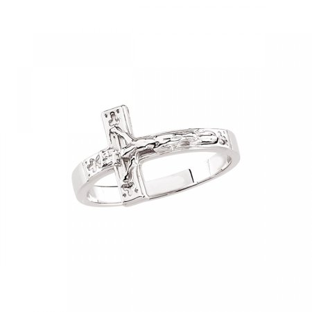 Sterling Silver Ladies Crucifix Chastity Ring Size 7 R16613 / Sterling Silver / Size 07.00/Ladies / Polished / Crucifix Chastity Ring - Chastity Promise Rings