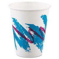 Dart Jazz Paper Hot Cups, 8oz, Polycoated, 50/Bag, 20 Bags/Carton