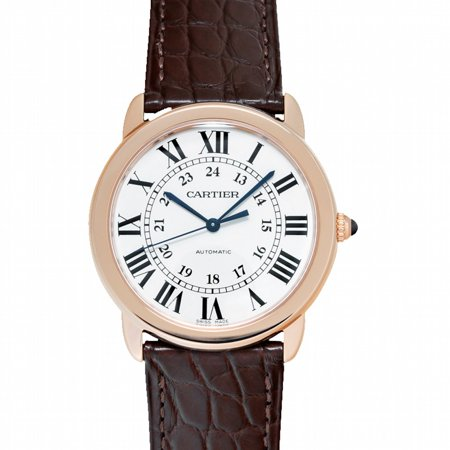 Cartier Ronde de Cartier 36mm Silver Dial Rose Gold Ladies Watch W2RN0008