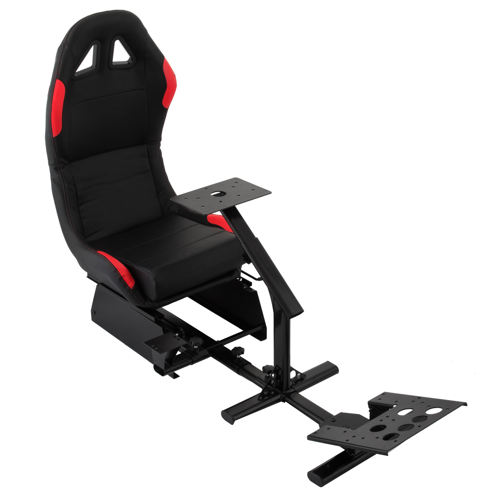 VEVOR Driving Simulator Gaming Chair Adjustable and Foldable Racing Cockpit Seat with Gear Shifter Mount for PS2 PS3 PS4 Xbox Xbox360 Xbox One
