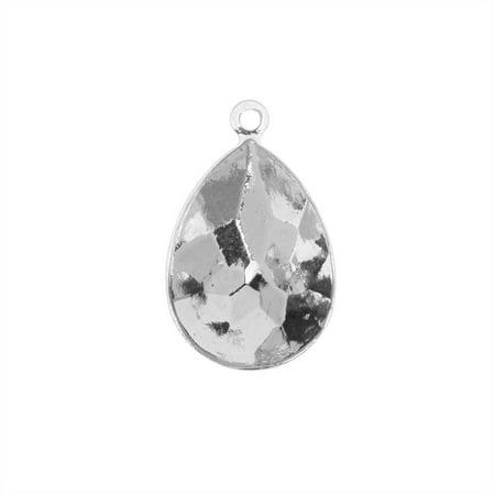 Swarovski Crystal Fancy Stone Pendant Setting, Fits #4320 Pear 18x13mm, 1 Piece, Rhodium Plated