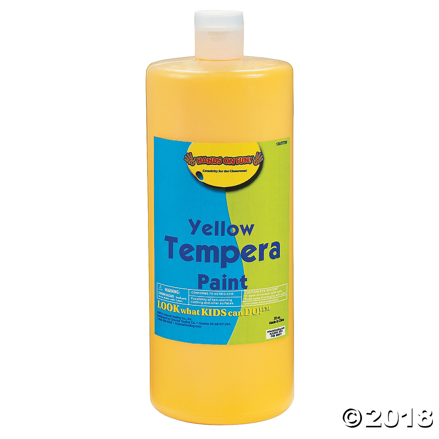 Yellow Tempera Paints(pack of 1)