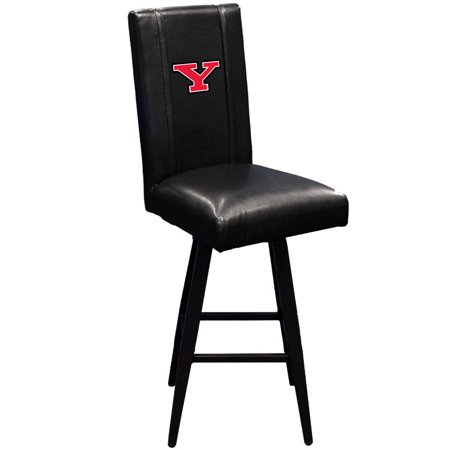 Logo Fabric Bar Stool - Youngstown State Penguins Collegiate Bar Stool Swivel 2000 with Secondary logo