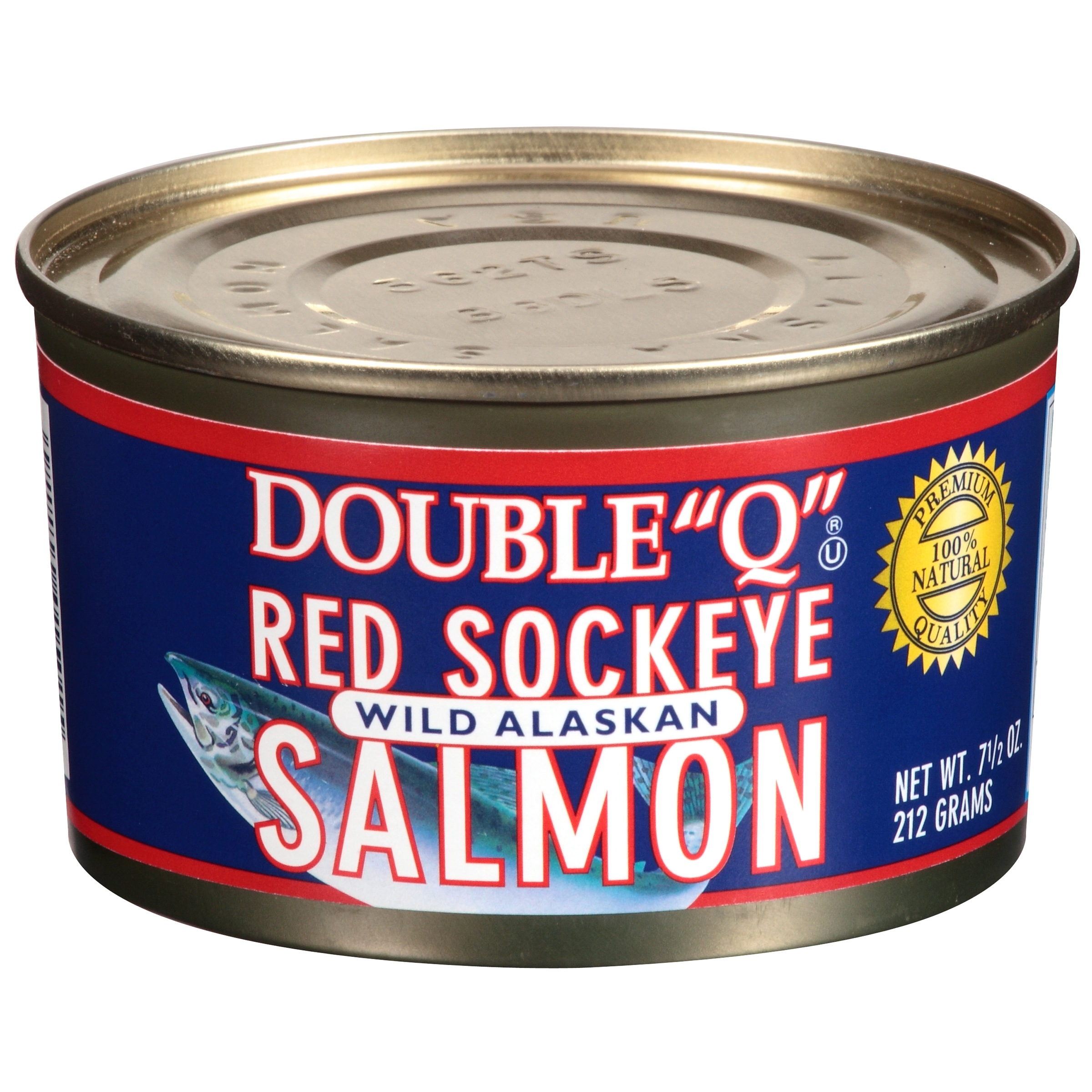 "Double ""Q"" Red Sockeye Wild Alaskan Salmon 7.5 oz Can by PeterPan® Seafood Inc."