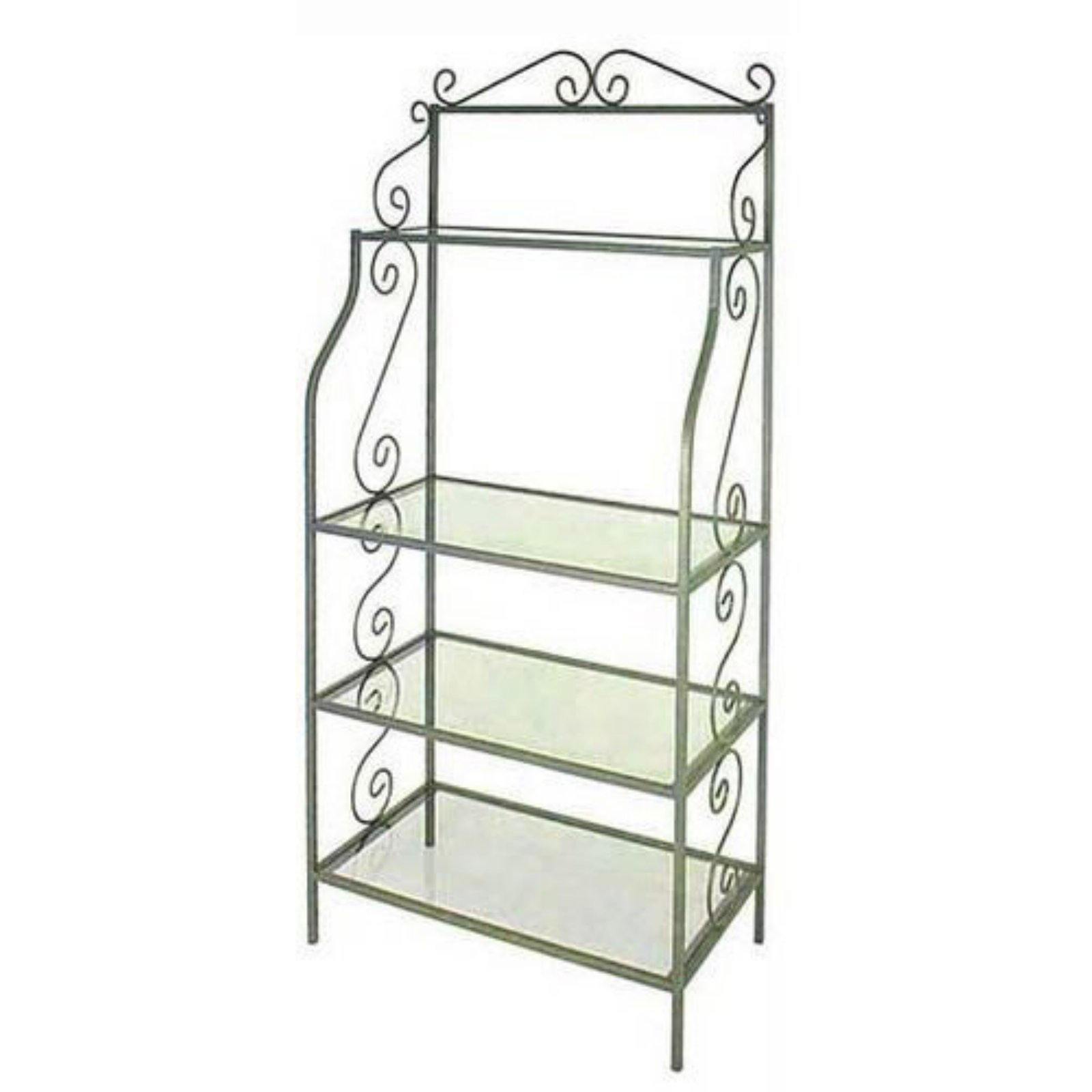 Austine Bakers Rack with Glass Shelves
