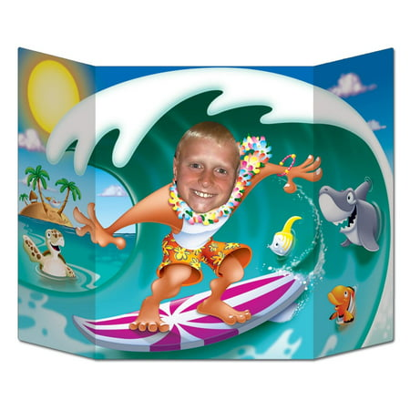 Pack of 6 Luau Themed Surfer Dude Photo Prop Decorations 37