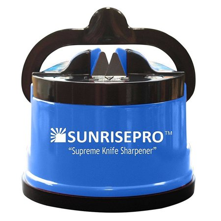 SunrisePro Supreme Best Kitchen Knife Sharpener for all Blade Types Easy &